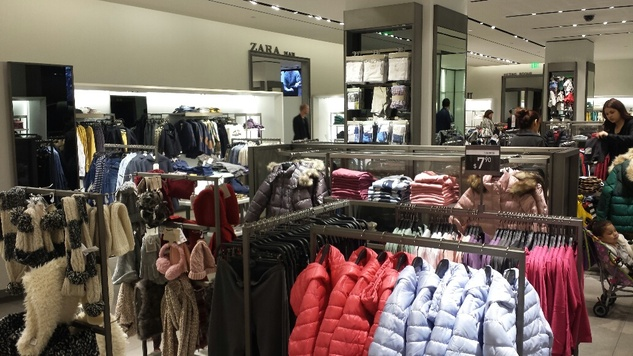 Zara children's wear department Galleria store