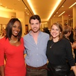 2 Alecia Harris, from left, Matt Johns and Tory Ridgeway at The Orange Show's A Couture Cause party