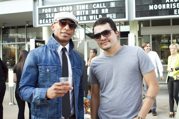 Leon McKenzie and Gustavo Aguirre at What to Wear in Mockingbird Station