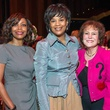 Lori Clemmons, from left, Eileen Lawal and Regina Rogers at the SPA luncheon with Lauren Bush Lauren October 2014