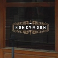 The Honeymoon logo on door rendering