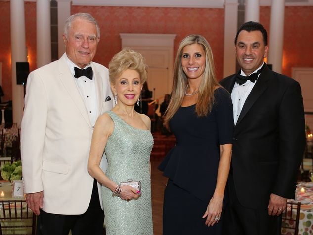 Jim Daniel, from left Margaret Alkek Williams and Gina and Dr. Devinder Bhatia at the CancerForward Gala May 2014