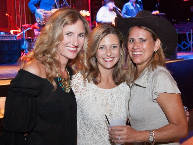 Lindsay Laudadio, from left, Leslie Shofner and Nadeline Lyle at Two Steppin' with TIRR Concert with Jerry Jeff Walker and Clay Walker October 2014