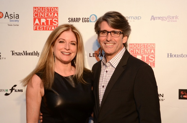 Pamela Powers and Dan Russ at the Houston Cinema Arts Festival opening night party November 2013