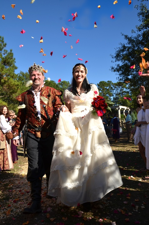 Renaissance Festival Weddings, Feb. 2016 Logan Knight, Sarah Wheeler