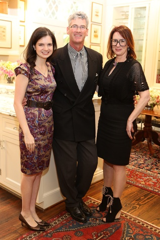 159 Sarah Dunagin, from left, Tom LeCloux and Rebekah Johnson at the Houston Grand Opera Tea March 2015