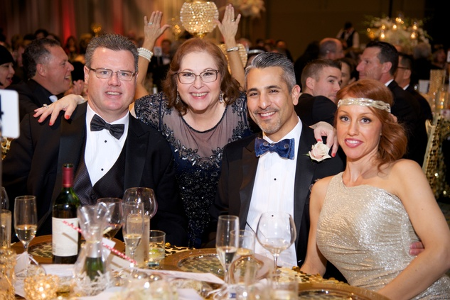 21 8425 Rick Doyle, from left, Annabelle Carillo and Lonny and Tammy Soza at the American Heart Association's Montgomery County Heart Ball February 2015