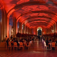 Interior of Louvre party June 2013