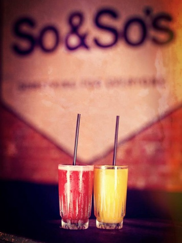 Cocktails at So & So's in Dallas