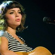 Norah Jones, guitar, striped shirt
