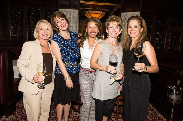 35 Houston Ballet Nutcracker kickoff September 2013 Dottie Erwin, Connie Reddy, Clemencia Larimore, Pam Staples, Mary Alice Parmet