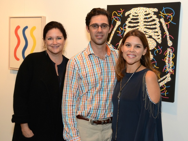 4 Lea Weingarten, left, with David and Estela Cockrell at the Texas Contemporary Art Fair VIP opening party October 2013