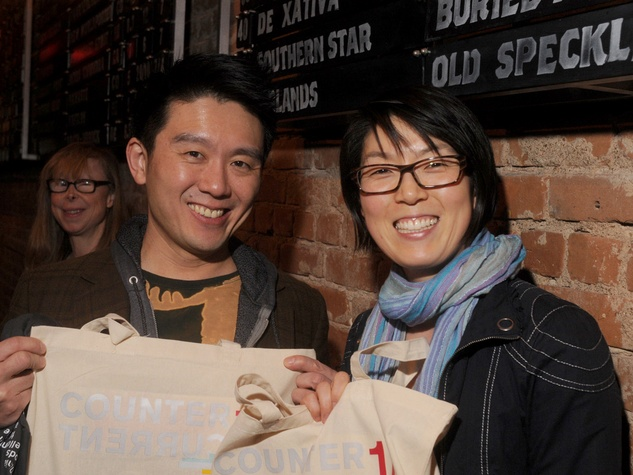 Byron Au Yong and Susie J. Lee at the CounterCurrent Kick-Off March 2014