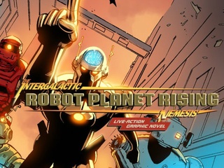 cover for Intergalactic Nemesis comic graphic novel Robot Planet Uprising