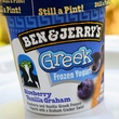 Ben & Jerry'S Blueberry Vanilla Graham Greek yogurt