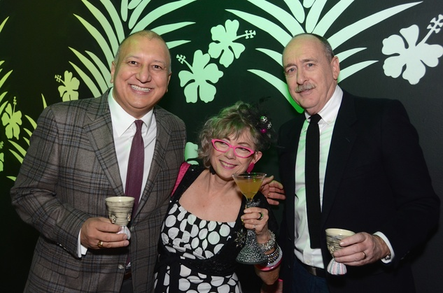 170 John de la Cruz, from left, Sandie Zilker and Patrick Palmer at the Craft Museum Martini Madness party January 2015