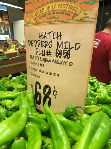 hatch peppers mild at Central Market