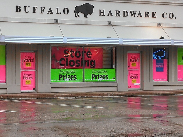 Buffalo Hardware Houston closing February 2014