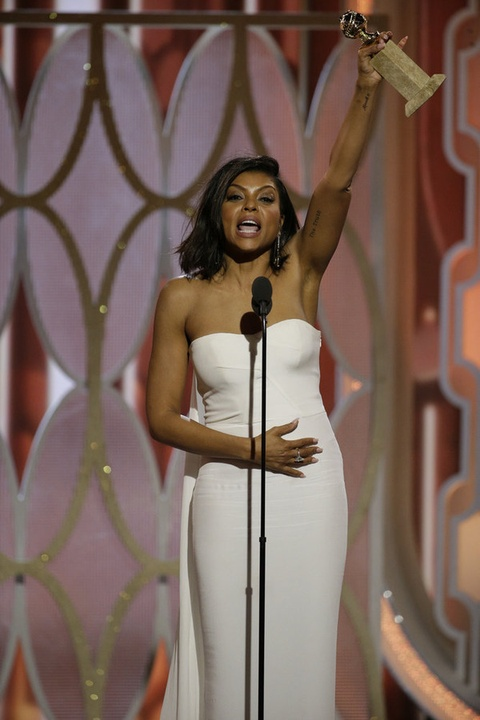Taraji P. Henson at Golden Globe Awards