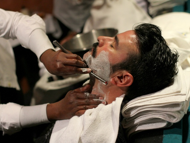 Hot shave by Boardroom Salon