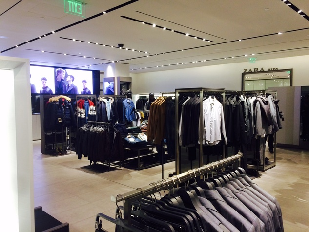 Zara menswear department Galleria store