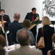 15 Saxophonists led by Dan Gelok and Johnny Salinas at Musiqa's Spring Benefit May 2014