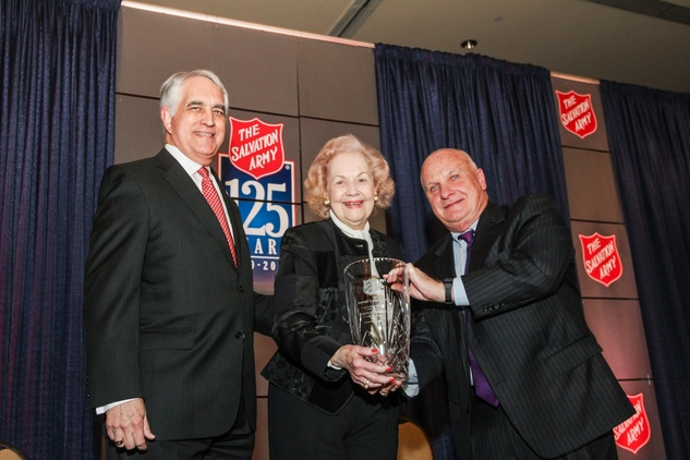 Steven Howell, from left, Evelyn Howell and Jim Wise at the Salvation Army annual luncheon November 2014