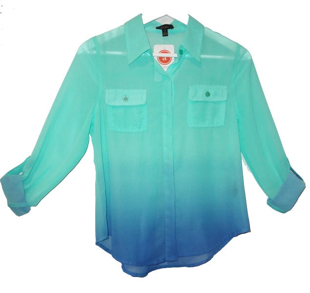 Accents Ombre Button Down Blouse