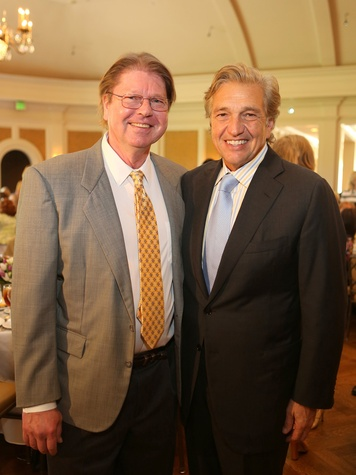 Ed Haapaniemi, left, and Albert DePrisco at the St. Luke's Friends of Nursing luncheon April 2014