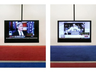 Art opening and election eve viewing party: Jonathan Horowitz's Your Land/My Land: Election'12