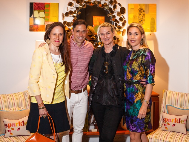 Jonathan Adler Houston April 2013 Catherine Anspon, Jonathan Adler, Holly Moore, Leslie Hull