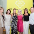 Mary Hazlett, from left, Lisa Koetting, Kendra Scott, Brenda Mizell, Suzanne Pagel and Larry Abston at the Kendra Scott opening in The Woodlands April 2014