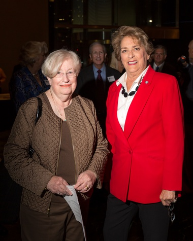 7 Madeleine Appel, left, and Ellen Cohen at the Houston Tomorrow Awards October 2014