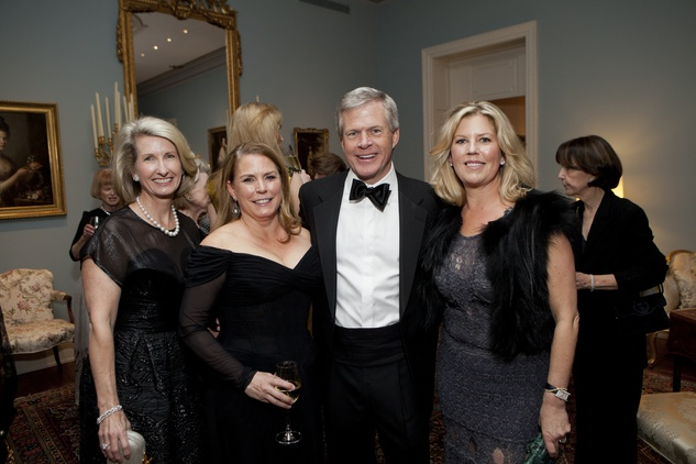 Marilyn Winters, from left, JoLynn Town, Skip McGee and Paige Johnson at the Rienzi Society dinner January 2014