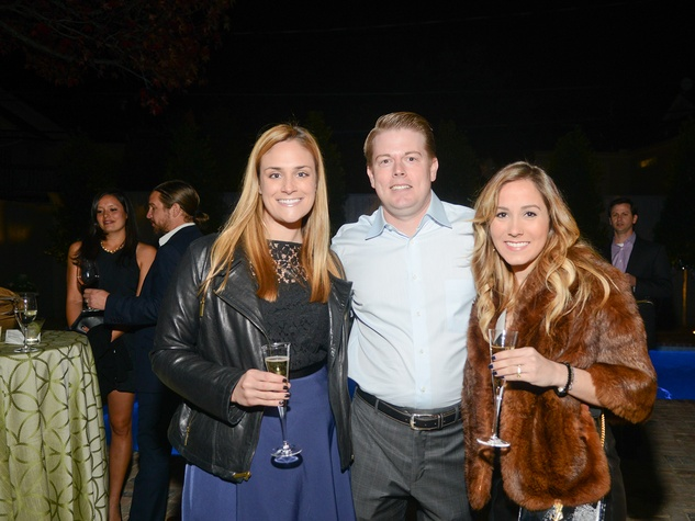 Jennifer Ban, from left, Brandon Cochran and Kalie Sanders at the JDRF gala kick-off party January 2014
