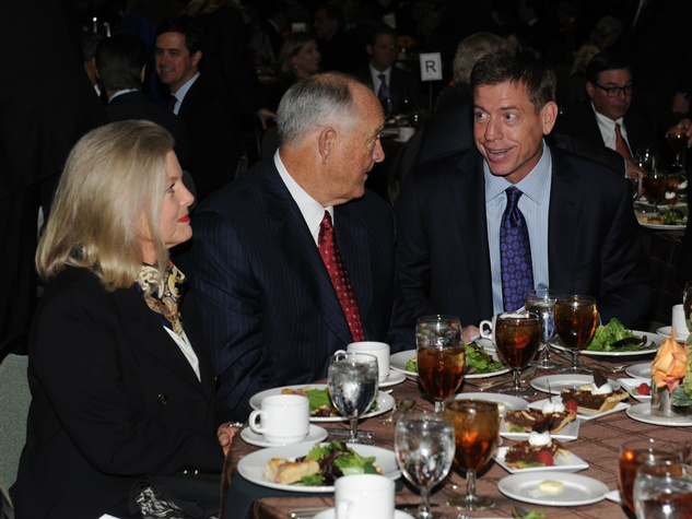 Ruth Ryan, Nolan Ryan, Troy Aikman at Living Legend Luncheon with George W. Bush