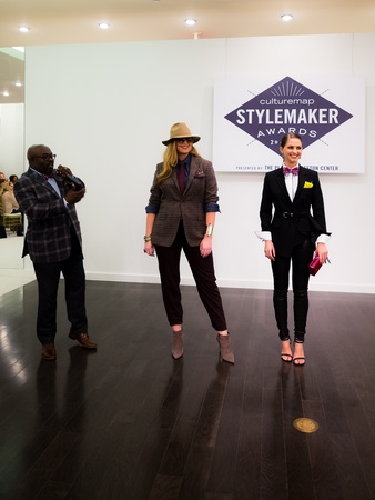 David Goltl and his models at 2014 CultureMap Stylemaker Awards