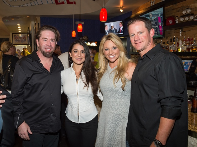 Jeff Bagwell, from left, Rachel Brown, Chita Johnson and Roy Oswald Roger Clemens' Celebrity Slam Party July 2014