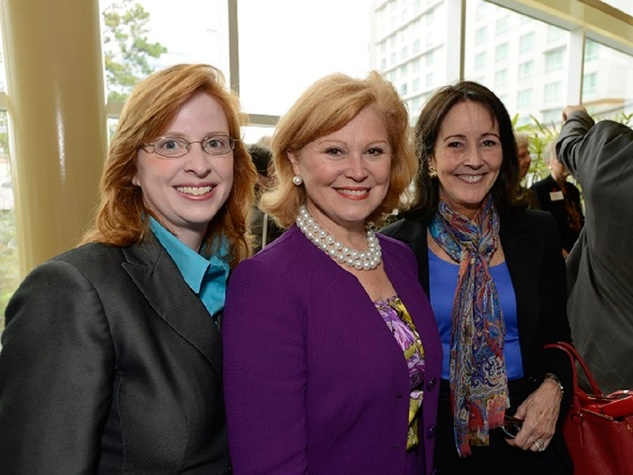 7 Tabitha Rice, from left, Jan Duncan and Jenny Elkins at the Texas Children's  Hospital - The Woodlands groundbreaking February 2014.