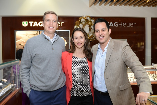 9 53 Ben Leibman, from left, April Leibman and Brett Slovin at the Zadok Jewelers Holiday Party December 2014