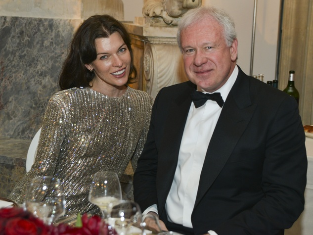 Milla Jovovitch and John Thrash at Louvre party