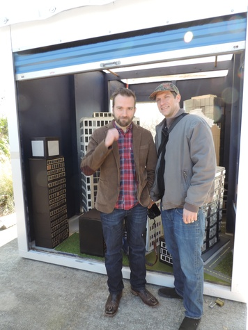 Tarra Gaines Houston Arts Alliance POD installations PODA 2.0 February 2015 Brandon Ray, left, and Rob Mozell
