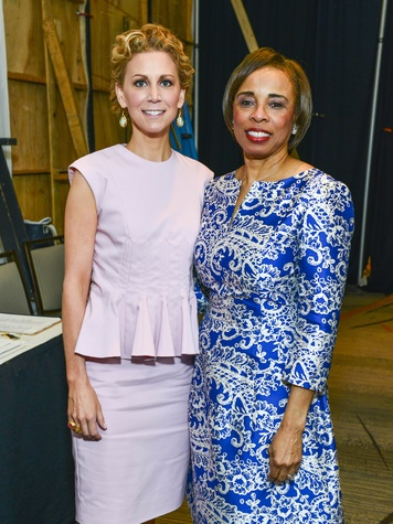 Courtney Hill Fertitta, Phyllis Williams at the Best Dressed luncheon March 2014
