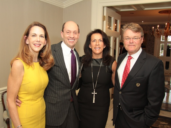 Baylor Friends dinner, October 2012, Amy Karges, Curt Karges, Claudia Rask, Jan Rask