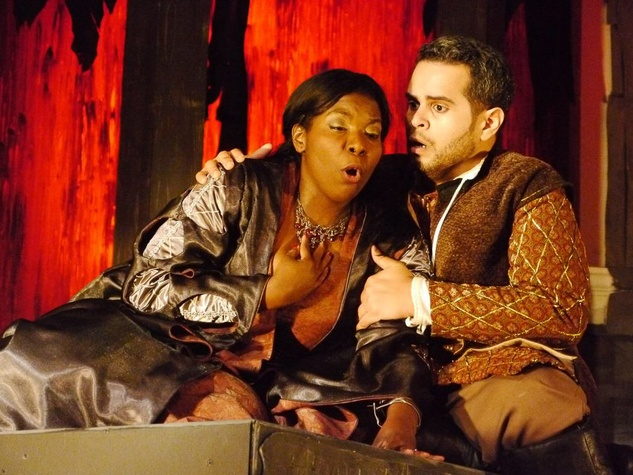 News_Opera in the Heights_Trovatore_March 2012_Michelle Johnson_Leonora_and Dominick Rodriguez_as Manrico
