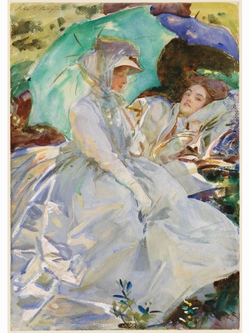 MFAH John Singer Sargent March 2014 Simplon Pass Reading