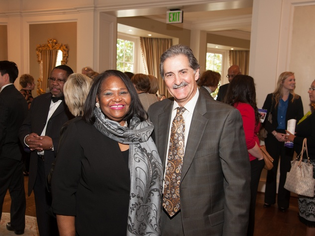 145 Dr. Beverly Stevenson and Dan Woods at Family Services 110th anniversary