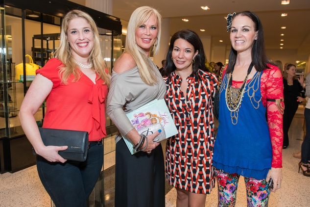 173 Jennifer Roosth, from left, Theresa Roemer, Nicole Trevino and Beth Mueke at Lord Fancy Pants book launch October 2014