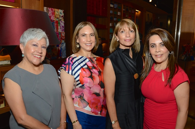 News, Shelby, Latin Women's Initiative reception, May 2015, Lucy Lindsey, Marlyn Greiner, Carmen VanRyder, Isabell Miller
