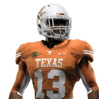 Texas Longhorns Nike Red River jerseys fully body front